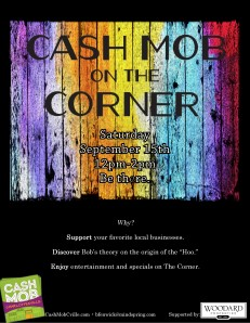 cash mob on the corner